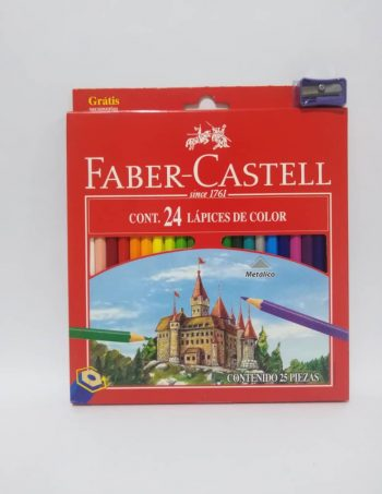 Creyon *24 Colores Faber Castell Hexagonales