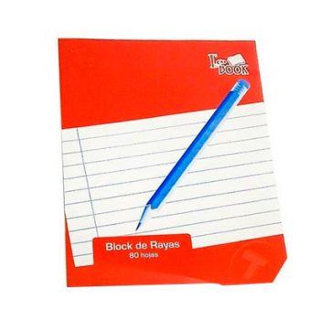 Eco Book Block de Rayas 80 Hojas