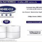 HORECLI PAPEL HIGIENICO (BULTOX4) 200 MTS